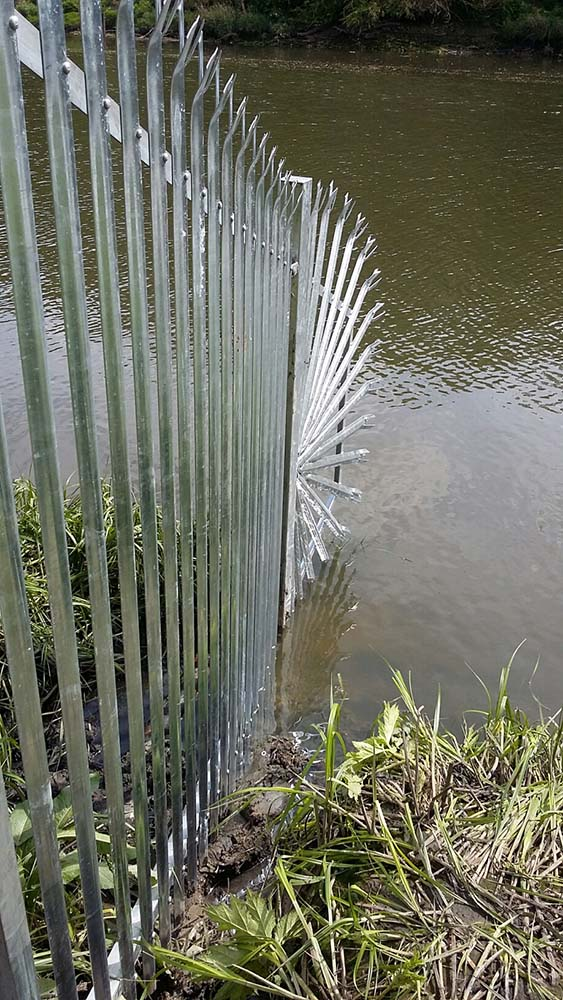 Steel palisade security fencing installed throughout north