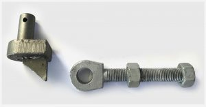 fencing supplies adjustable gate eyes and pins 32mm pin  32 x 200mm