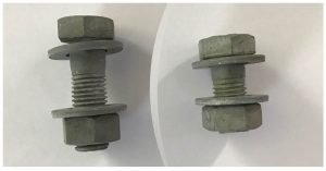 fencing supplies M16x50 post bolt HDG M16x35 lap bolt HDG